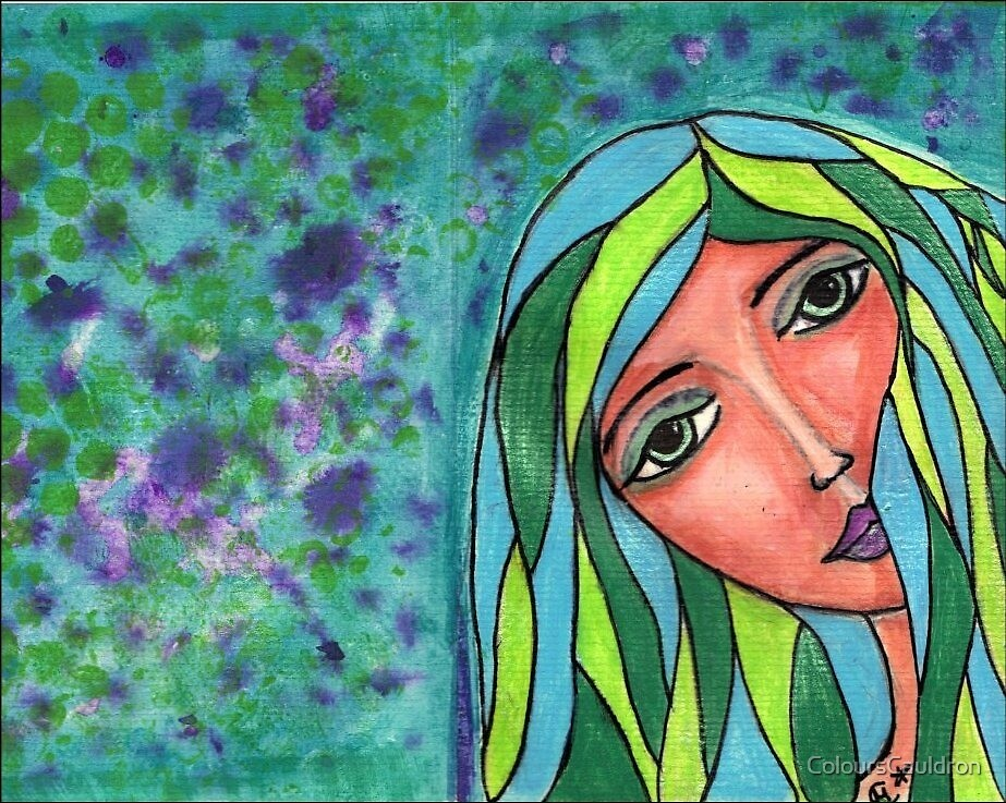 Abschied - Original in Mixed Media by ColoursCauldron