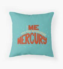 Retrograde Mercury Throw Pillow