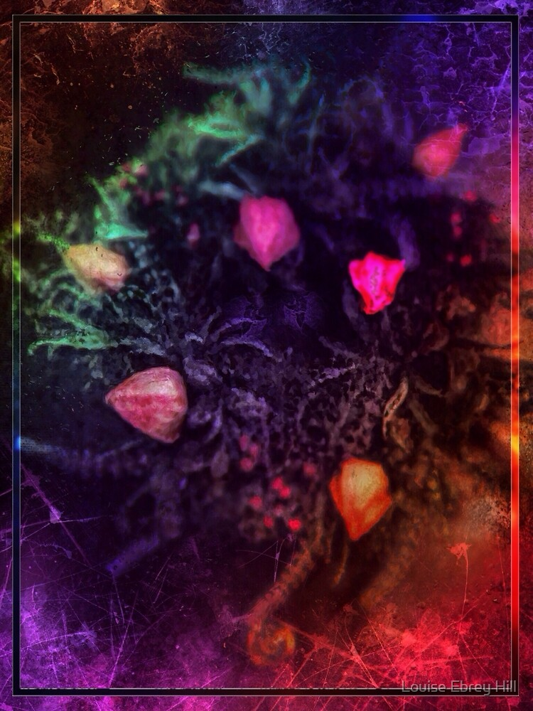 Bright Garland of flowers by Louise Ebrey Hill