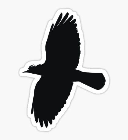 Jackdaw In Flight Silhouette Sticker