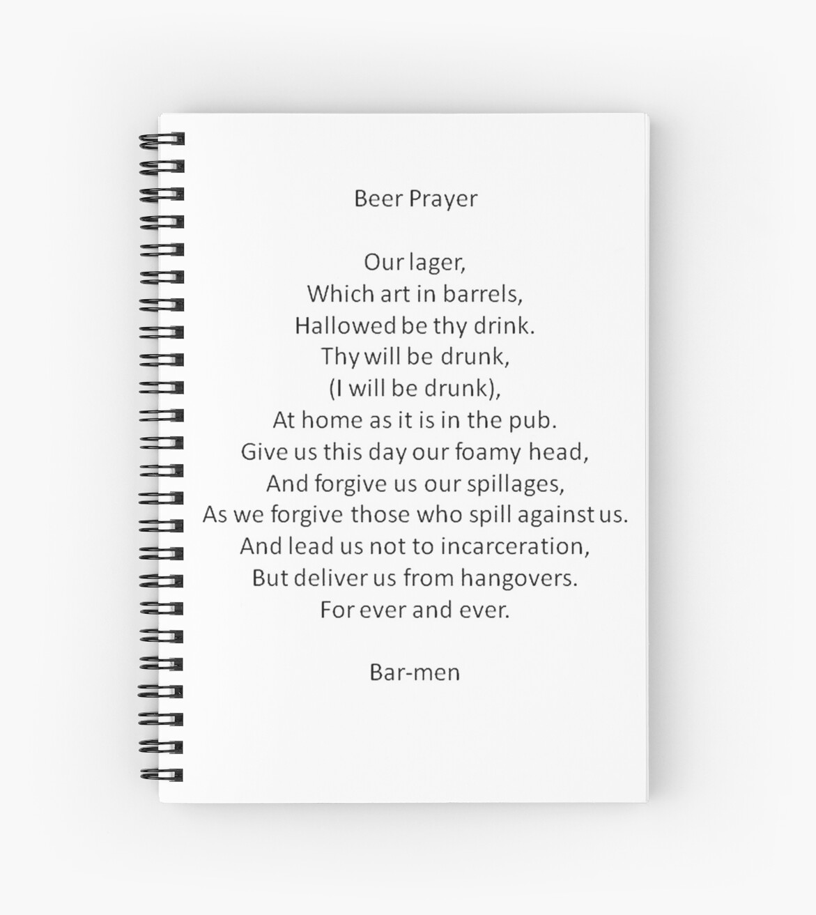 barmen parody of the lord u0027s prayer