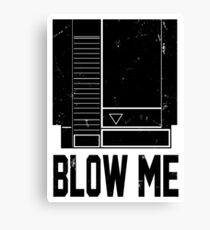 NES Blow Me Canvas Print