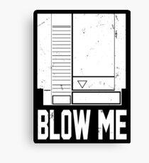 NES Blow Me Canvas Print