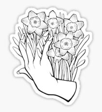 Daffodils in your Hands Sticker