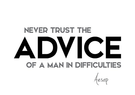 advice of a man in difficulties - aesop by razvandrc