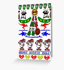 AUSSIE XMAS UGLY SWEATER DESIGN Greeting Card