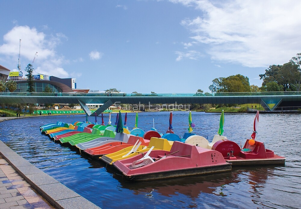 River Torrens with Paddleboats by Sarah Langley