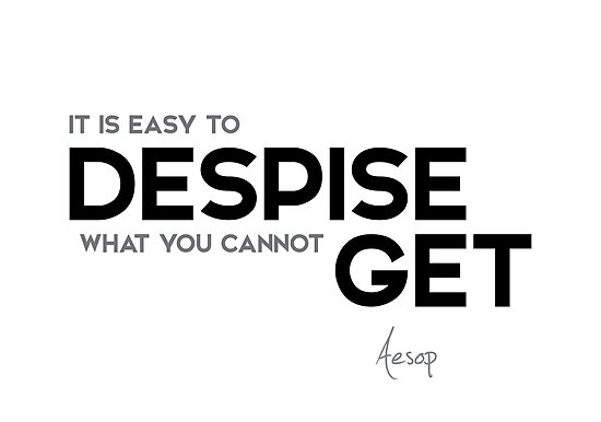 easy to despise - aesop by razvandrc