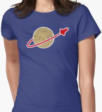 Retro  Lego Space Logo Women's Fitted T-Shirt