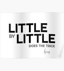little by little - aesop Poster