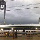 stormy railway by busbydeebar