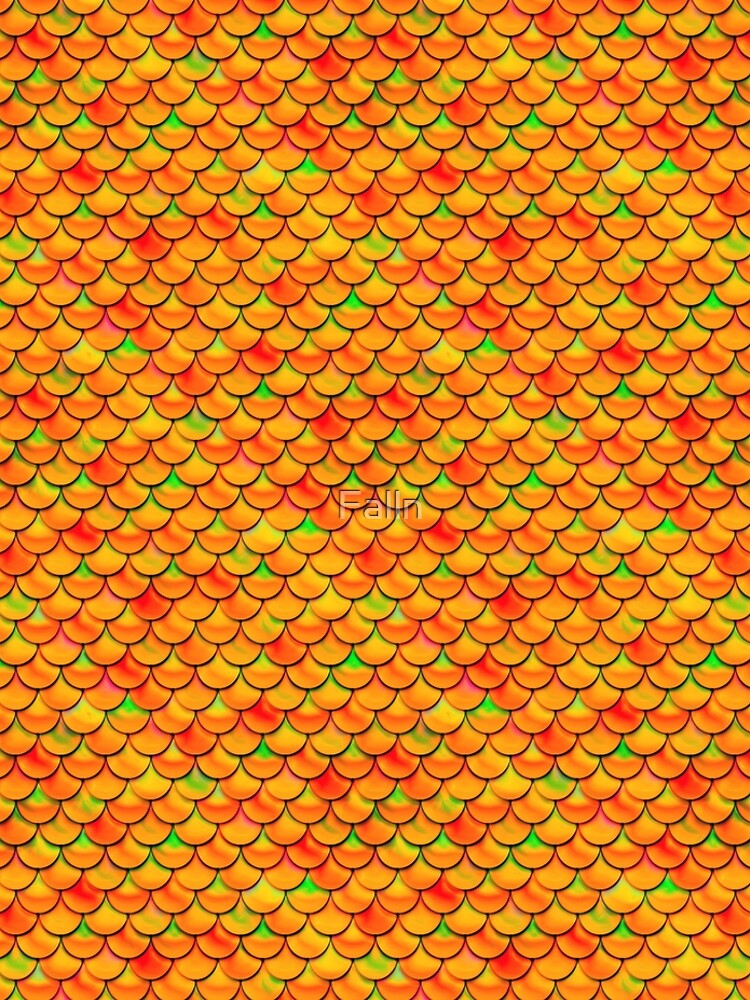 Orange Green Scales by Falln