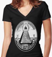 Illuminati  Women's Fitted V-Neck T-Shirt