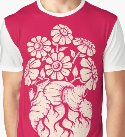 Blooming Heart Graphic T-Shirt