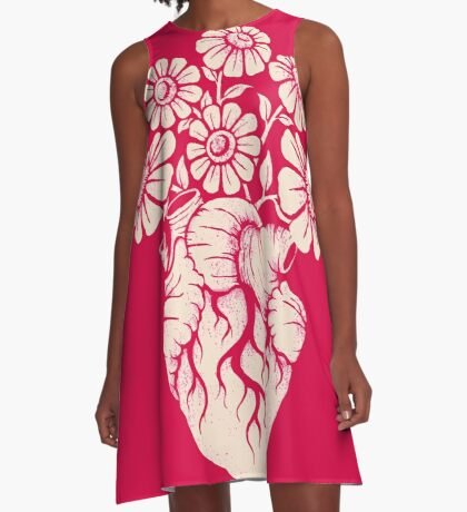 Blooming Heart A-Line Dress