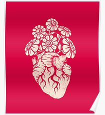 Blooming Heart Poster