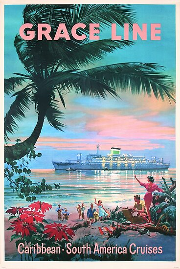 Grace Line Tropical Caribbean South American Cruises by vintagetravel