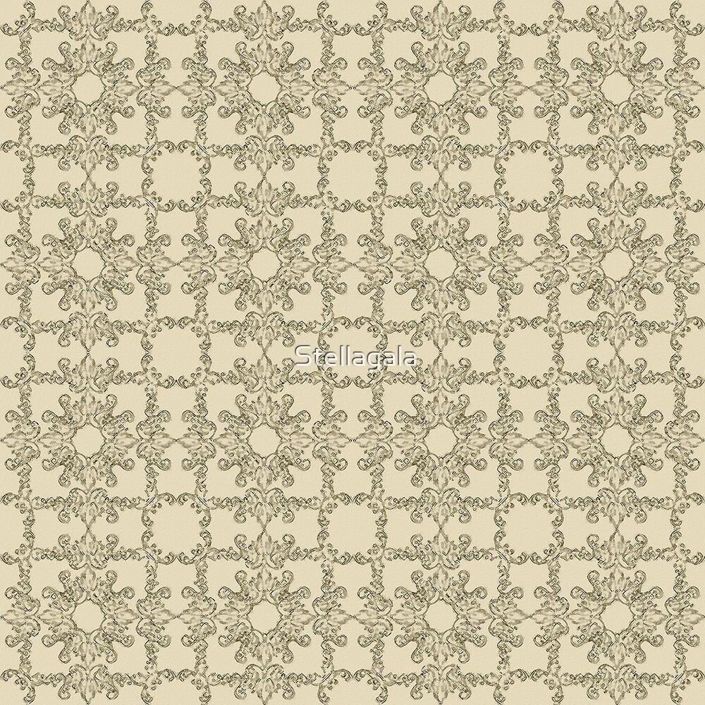floral antique beige pattern by Stellagala
