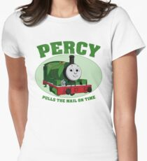 Percy - Pulls The Mail On Time Women's Fitted T-Shirt
