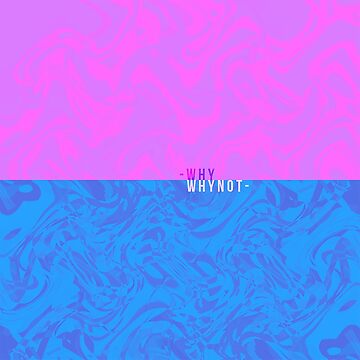 Abstract Pink and Blue Split Wallpaper by SusurrationStud
