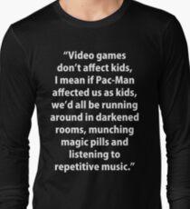 Video Games don't affect Kids Long Sleeve T-Shirt