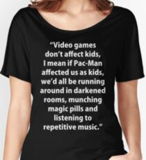 Video Games don't affect Kids Women's Relaxed Fit T-Shirt