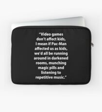 Video Games don't affect Kids Laptop Sleeve
