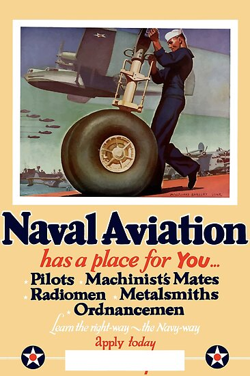 Naval Aviation Has A Place For You - WWII by warishellstore