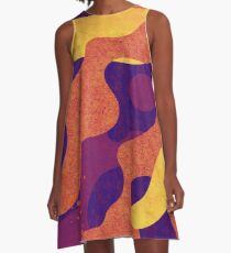 Colored Camouflage A-Line Dress