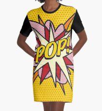 Comic Book Pop Art POP Superhero Graphic T-Shirt Dress