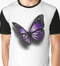 Purple Butterfly Graphic T-Shirt