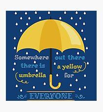 Gelber Regenschirm Fotodruck