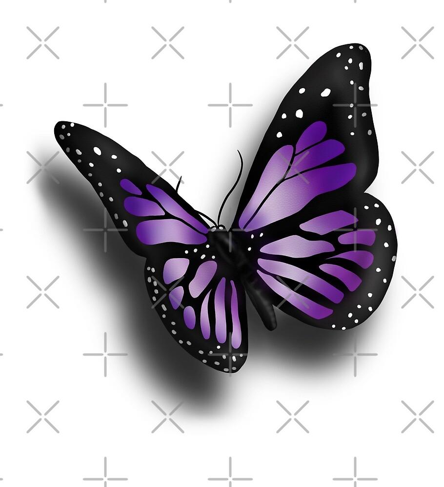 Purple Butterfly by wildflowerdw