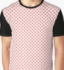 Shell Pink Polka Dots Graphic T-Shirt