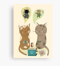 Geek Cats  Metal Print