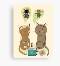 Geek Katzen Leinwanddruck