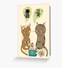 Geek Cats  Greeting Card