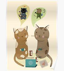 Geek Katzen Poster