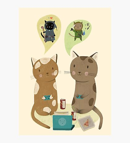 Geek Cats  Photographic Print