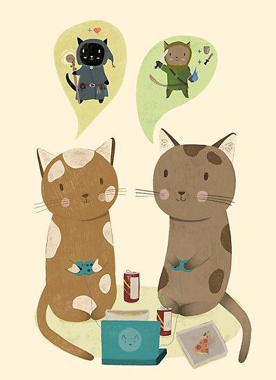 Geek Cats  by Judith Loske