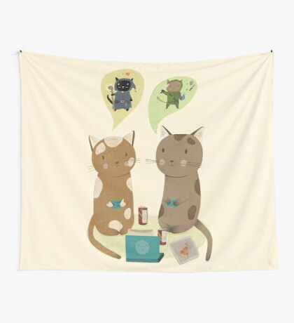 Geek Cats  Wall Tapestry
