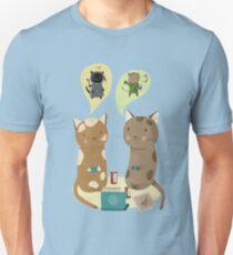 Geek Cats  Unisex T-Shirt