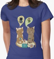 Geek Cats  Womens Fitted T-Shirt