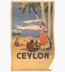 Ceylon-Weinlese-Reise-Plakat Poster