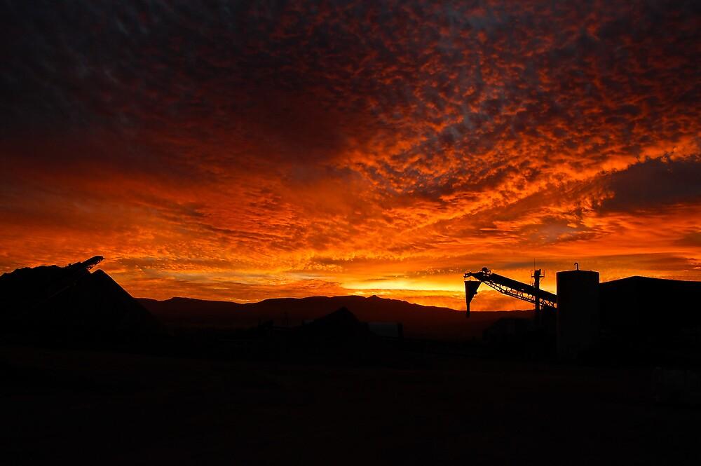 Industrial sunrise by malan