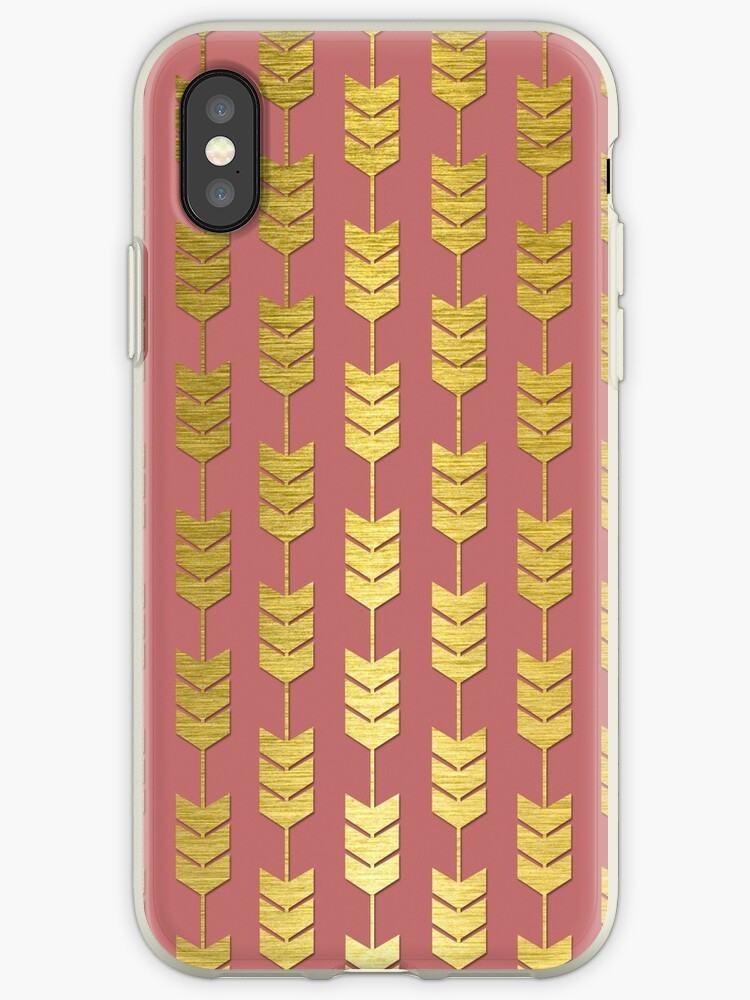 Pink and Gold Valentines Arrow Pattern by ARTiculatePRINT