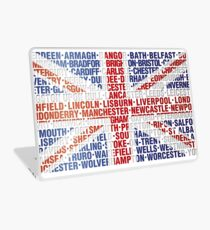 UK CITY NAMES FLAG Laptop Skin