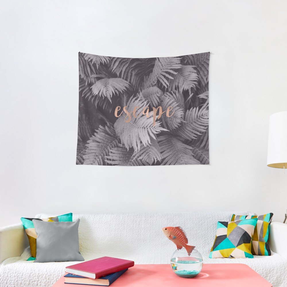 Rose gold escape in the shadows Tapestry