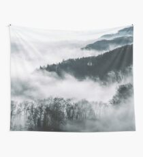 Ethereal misty forest Wall Tapestry