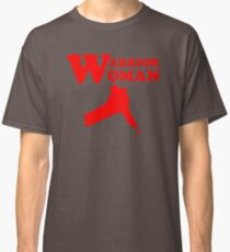 Warrior Woman bloody knife t-shirt. Classic T-Shirt
